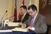 Blaya y Ballesta firman un convenio para la remodelación de la Plaza del Ayuntamiento