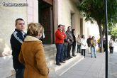 Concentración silenciosa en la puerta del Consistorio como repulsa al atentado de ETA