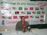IU insta al PP en Totana a dejar los sables y dar una salida al Gobierno Municipal