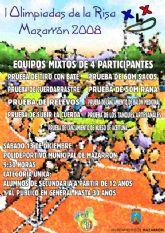 """La """"I Olimpiada Juvenil de la Risa"""" se celebrará mañana sábado 13 de diciembre en Mazarrón"""