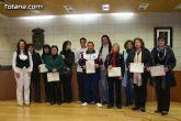 La concejal de Fomento y Empleo entrega los diplomas acreditativos a los participantes de los diferentes cursos formativos impartidos en el Centro de Desarrollo Local
