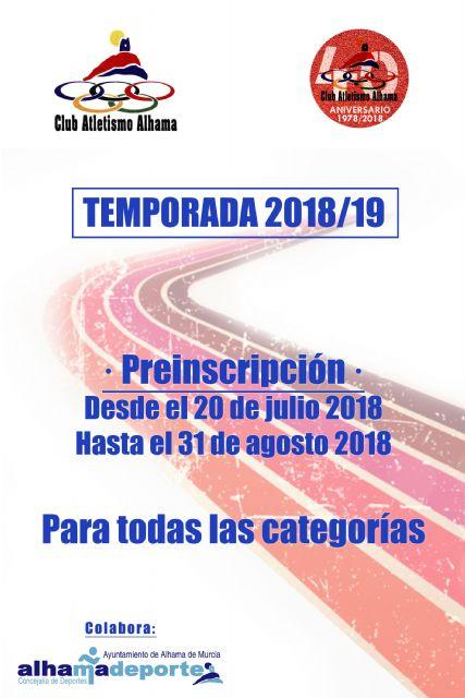 El Club Atletismo Alhama prepara la temporada 2018/19, Foto 2