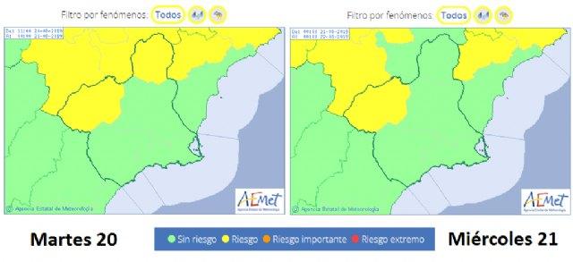 Protección Civil Totana avisa de que regresan las tormentas a la Región de Murcia