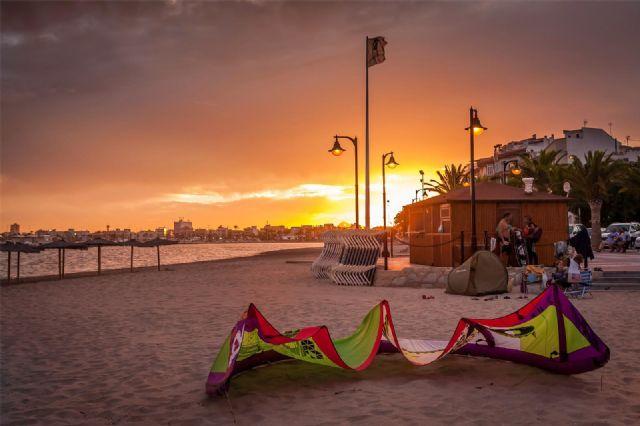 Atardecer en Lo Pagán, primer premio del concurso de fotografía Imágenes del Mar Menor - 1, Foto 1