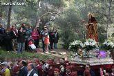 La patrona de Totana, Santa Eulalia de Mérida, vuelve a su santuario