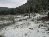 La Dirección General de Emergencias activa el nivel naranja hasta esta noche por las primeras nevadas del año en Sierra Espuña