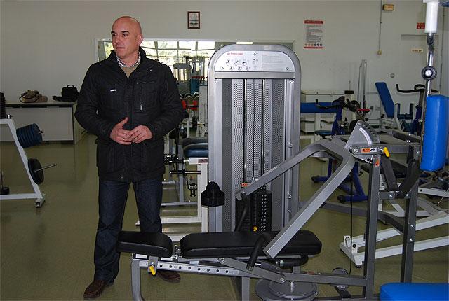 El Ayuntamiento a través de la Concejalía de Deportes realiza varios cambios para mejorar el servicio de la sala de musculación del Polideportivo Bajo Guadalentín, Foto 1