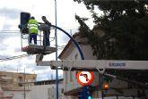 Bombillas de muy bajo consumo energ�tico sustituyen a las viejas de los sem�foros del municipio