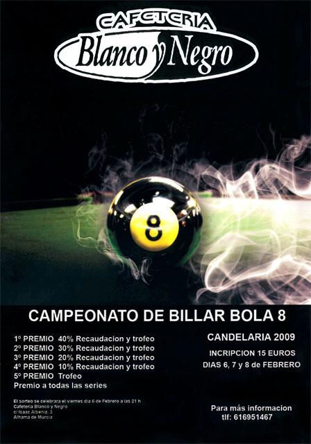 Campeonato de Billar Bola 8, Foto 1