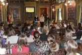 Las Casas Consistoriales reciben la visita de estudiantes del Instituto Floridablanca