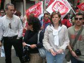 La ejecutiva socialista ha participado, como en años anteriores, en la manifestación del Día del Trabajador