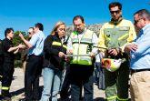 M�s de doscientas personas se movilizan en el simulacro de incendio forestal realizado hoy en el Parque Regional de Sierra Espuña