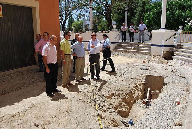 El delegado del Gobierno y el alcalde de Alhama ponen la primera piedra del nuevo parque infantil de tráfico del municipio, Foto 2