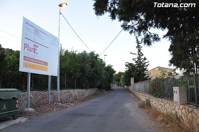 """Inauguran el alumbrado público del """"Camino de Los Jaboneros"""", Foto 1"""