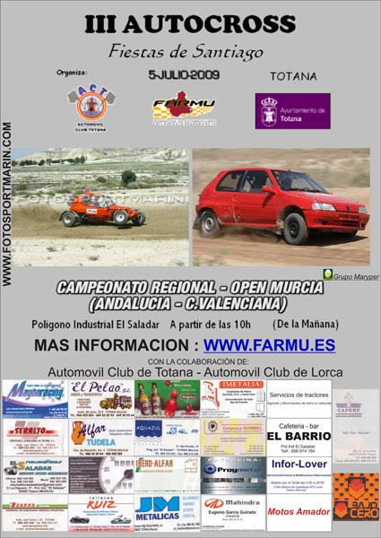 El III Autocross Fiestas de Santiago tendrá lugar el próximo domingo 5 de julio, Foto 1