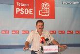 PSOE: El PP totanero se niega a exigirle a Valcárcel dinero para la financiación de los ayuntamientos