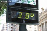 Las altas temperaturas mantienen en alerta amarilla a 28 provincias, entre ellas Murcia