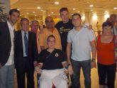 La Peña Madridista La Décima de Totana junto a directivos de la asociación de D´Genes visitan el palco de honor del Madrid