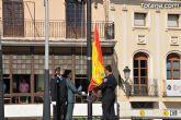 Autoridades civiles y militares presiden el acto de homenaje a la bandera de España con motivo de la festividad del Pilar, patrona de la Guardia Civil
