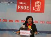 Lola Cano ofreció una rueda de prensa para valorar la visita a Totana del Defensor del Pueblo