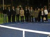 El delegado del Gobierno y el alcalde de Alhama inauguran las pistas de tenis construidas con cargo al Fondo Estatal de Inversi�n Local