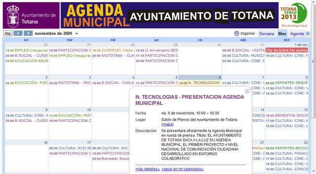 """La Concejalía de Nuevas Tecnologías pone en marcha la """"Agenda Municipal"""", Foto 1"""