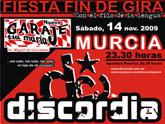 Discordia pone fin a la gira de su disco Con el filo de la lengua con un concierto en Murcia