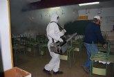 El ayuntamiento de Alhama practica una desinfecci�n en todos los edificios p�blicos  del municipio aprovechando el periodo vacacional en los colegios