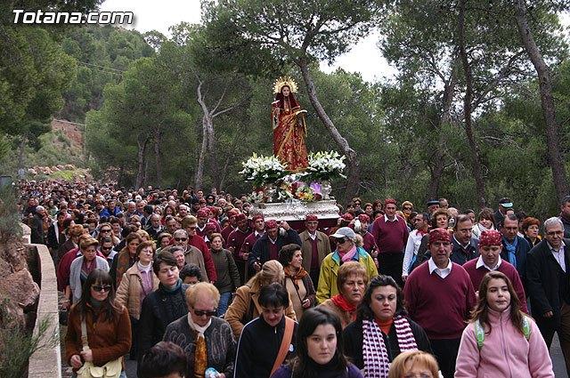 La patrona de Totana, Santa Eulalia de Mérida, regresará en romería mañana sábado a su santuario si las condiciones metereológicas lo permiten, Foto 1