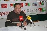 Para IU, el alcalde de Totana cada día que pasa se encuentra más nervioso y aislado por el Grupo Popular