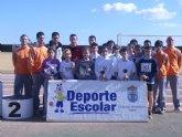Más de 120 escolares de los diferentes centros de enseñanza de la localidad participaron en la jornada de atletismo de Deporte Escolar