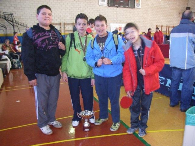 El equipo infantil masculino del IES Juan de la Cierva se proclama subcampeón en la final regional de tenis de mesa de Deporte Escolar, Foto 1