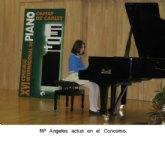 La totanera María Ángeles Ayala Moreno, con tan sólo 13 años, actuó  tocando el piano en la Orquesta Sinfónica de la Región de Murcia