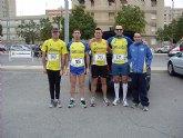 Buen papel de los atletas del Club Atletismo Totana en la XVII media maraton de Cartagena