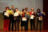 Cinco mujeres de Totana son homenajeadas en el Día Internacional de la Mujer por su trayectoria profesional y personal