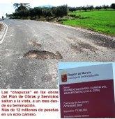 IU denuncia obras chapuceras en el Plan de Obras y Servicios de 2009