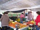 Los puestos del Mercadillo semanal de Totana volverán a reubicarse en su lugar de origen a partir de mañana miércoles