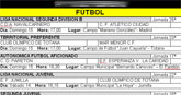 Agenda deportiva fin de semana 17 y 18 de abril de 2010