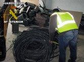 La Guardia Civil detiene a cuatro personas en la comarca del Guadalent�n por su presunta implicaci�n en la sustracci�n de cableado de cobre