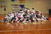 Los Scouts superan el record guinness con la recogida de 6880 kilos de ropa