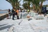 Obras Públicas construye un carril bici en los paseos marítimos del Puerto de Mazarrón