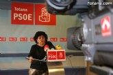Rueda de prensa. Lola Cano (PSOE). Valoración Pleno abril 2010