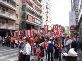 Militantes de IU Totana, junto a representantes de trabajadores, asistieron a la manifestación del 1º de Mayo en Murcia - 1