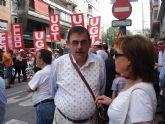 Militantes de IU Totana, junto a representantes de trabajadores, asistieron a la manifestación del 1º de Mayo en Murcia - 2