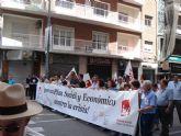 Militantes de IU Totana, junto a representantes de trabajadores, asistieron a la manifestación del 1º de Mayo en Murcia - 4