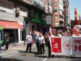 Militantes de IU Totana, junto a representantes de trabajadores, asistieron a la manifestación del 1º de Mayo en Murcia - 5