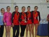 Las alumnas de la Escuela Municipal de Gimnasia Rítimica de Totana y Paretón consiguieron medallas de oro, plata y bronce