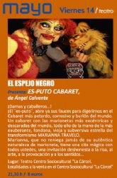 Continúa la programación de teatro con la puesta en escena de la obra Es-puto Cabaret