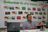 IU+LV: Los presupuestos del Ayuntamiento de Totana son tardíos, irreales e inservibles