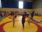 El colegio Reina Sofía consigue el tercer puesto benjamín en la final regional de nano nana práctica grecorromana de deporte escolar